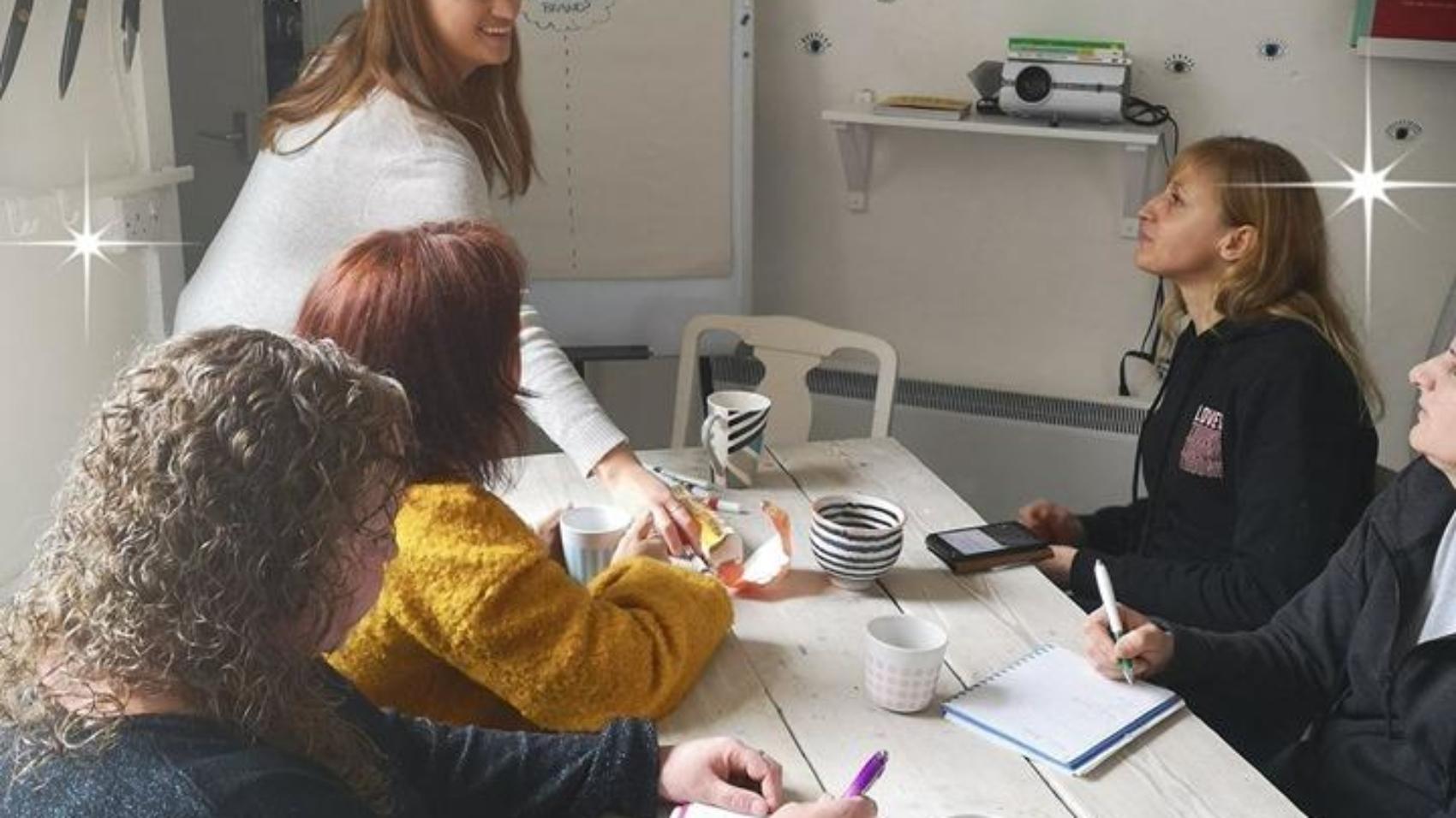 crafty women, the growing club, katie birks branding & design, branding workshop